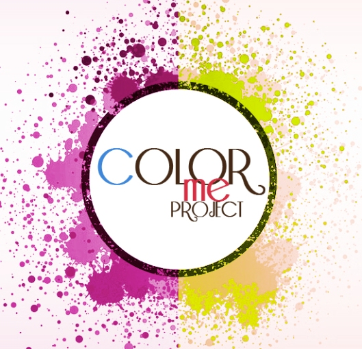 Color me project - violet & lime green round